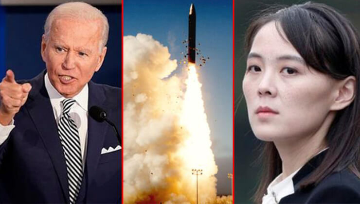 Biden döneminde bir ilk! Kuzey Kore füze fırlattı, akıllara bakım kim geldi!