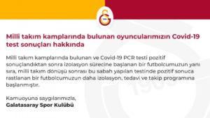 Galatasaray'da İki Koronavirüs Vakası