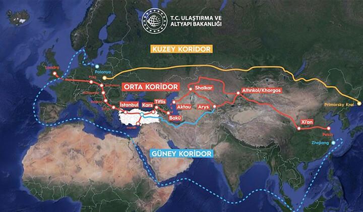 Türkiye Orta Koridor'da kilit ülke haline geldi!