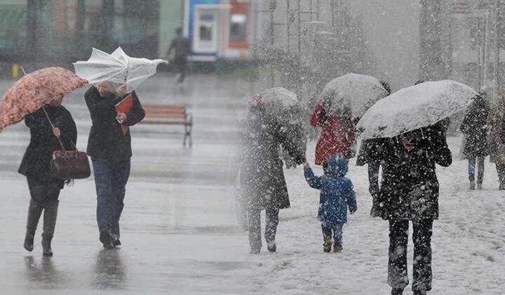 Yağmur ve kar etkisini sürdürecek