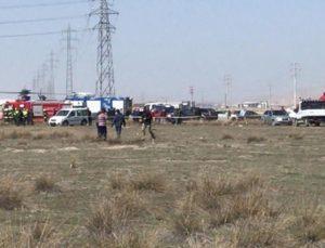 Son Dakika! Konya'da askeri gösteri uçağı düştü, pilot şehit oldu.