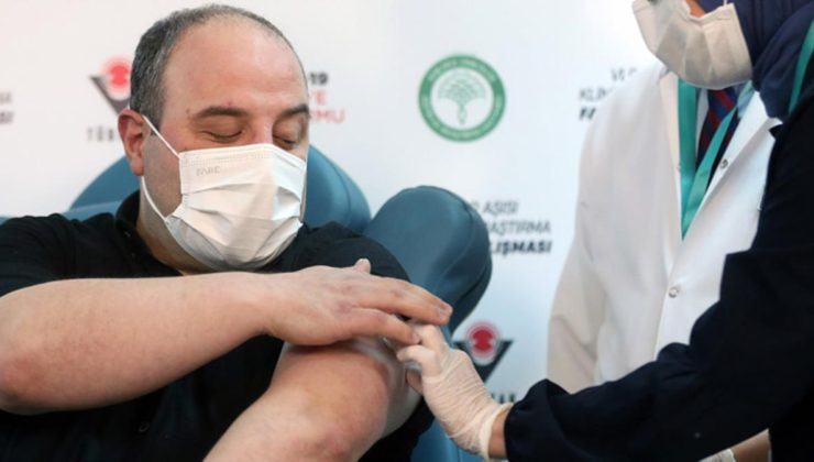 Yerli aşı için gönüllü olan Bakan Varank, ilk doz …