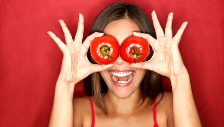 Sebzelerin kraliçesi domatesten gelen güzellik