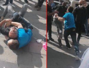 Ankara'da zincir marketten hırsızlık yapmaya çalışan zanlının market görevlisiyle yaşadığı arbede kameralara yansıdı..