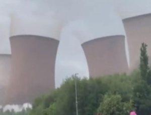 Büyük gürültüyle bir anda oldu bitti! 117 metre yüksekliğindeki kuleler 5 saniyede yıkıldı