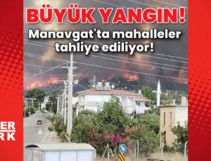 Manavgat'ta ormanlık alanda yangın!